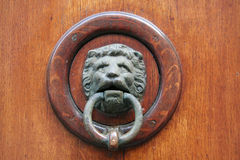 бронзовое doorknocker Стоковое Фото