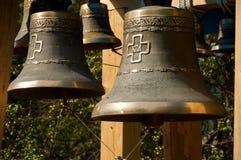 Бронзовые колоколы православной церков церков Стоковое фото RF