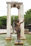 Бронзовые статуи на месте d' Assas, Nîmes, Франция Стоковая Фотография RF