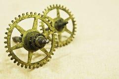 бронзовые cogs малые 2 Стоковое Изображение RF