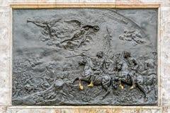 Бронзовый барельеф Стоковая Фотография