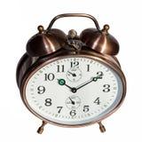 Бронзовый будильник год сбора винограда Стоковое фото RF