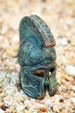 Бронзовый греческий шлем Стоковое Изображение