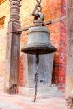 Бронзовый колокол в квадрате Patan Durbar, Непале Стоковое Изображение RF