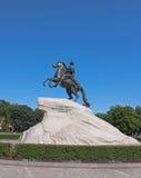 Бронзовый наездник, Санкт-Петербург Стоковое Изображение