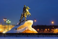 Бронзовый наездник, Санкт-Петербург, Россия Стоковые Изображения