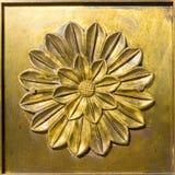 Бронзовый орнамент цветка Стоковая Фотография