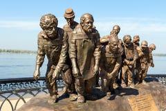 Бронзовый памятник картины Ilya Repin Стоковые Фото