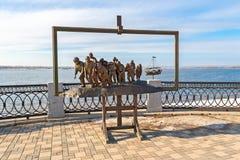 Бронзовый памятник картины Ilya Repin Стоковое фото RF