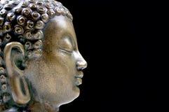 бронзовый профиль Будды Стоковые Фото