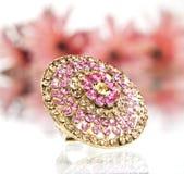 бронзовый сапфир кольца gemstone Стоковые Фотографии RF