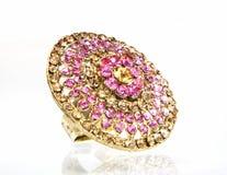 бронзовый сапфир кольца gemstone Стоковая Фотография RF