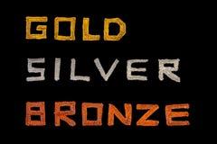 бронзовый серебр золота Стоковая Фотография RF