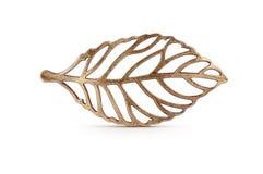 Бронзовый символ листьев Стоковые Изображения RF