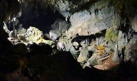 Бронзовый тайский Будда в пещере, Vang Vieng Лаос стоковое изображение rf