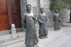 3 бронзовых статуи должностных лиц в династии Qing Стоковое Изображение