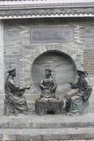 3 бронзовых статуи должностных лиц в династии Qing Стоковое фото RF