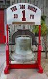 Бросание колокола в Сан-Франциско в 1885 и представленном к отделению пожарной охраны Двигателю Компании 1 Сан-Диего Стоковые Изображения