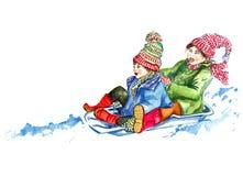 Бросаться через снег Стоковые Фотографии RF