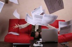 бросать бумаг Стоковое фото RF