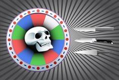 бросать цели черепа ножей Стоковые Изображения RF