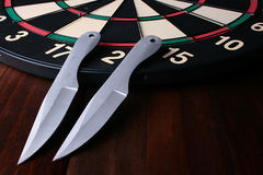 бросать knifes Стоковая Фотография RF