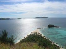 Бросьте прочь - Острова Фиджи - Monuriki Стоковая Фотография