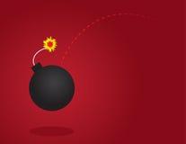 Брошенная бомба Стоковая Фотография