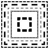 Брошенная линия квадраты Тонкие и толстые линии Линии отрезка, отрезок квадрата Стоковое Фото