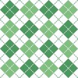 Брошенная картина Argyle в зеленом и белом стоковые фотографии rf