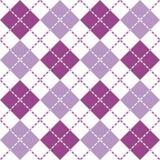 Брошенная картина Argyle в пурпурном и белом стоковое фото rf