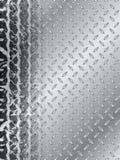 Брошюра автошины Grunge с стальной предпосылкой иллюстрация вектора