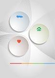 Брошюра крышки шаблона рогульки страхования предпосылки Стоковые Фотографии RF