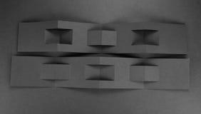 Брошюра чистого листа бумаги на серой предпосылке Стоковые Изображения