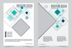 Брошюра, шаблон зеленого цвета дизайна рогульки Стоковые Фотографии RF