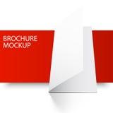 Брошюра blank4-01 модель-макета Стоковое Изображение