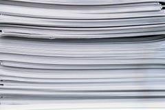 Брошюры обработки документов стога Стоковое Изображение