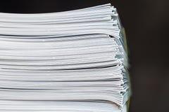 Брошюры обработки документов стога Стоковые Изображения RF