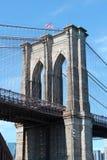 Бруклинский мост в Нью-Йорк Стоковая Фотография