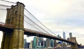 Бруклинский мост на заходе солнца стоковые фото