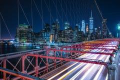 Бруклинский мост, Нью-Йорк, 08-26-17: красивый Бруклинский мост на Стоковые Фотографии RF