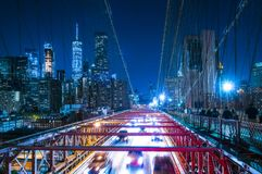 Бруклинский мост, Нью-Йорк, 08-26-17: красивый Бруклинский мост на Стоковое Фото