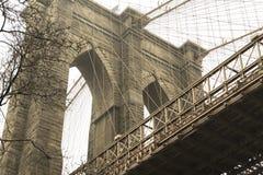 Бруклинский мост от dumbo исторического общества в Бруклине стоковое фото rf