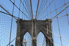 Бруклинский мост New York City Стоковое Фото