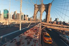 Бруклинский мост - NYC стоковые фото
