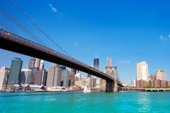 Бруклинский мост NYC стоковое изображение