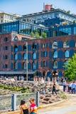 Бруклин, Нью-Йорк, США - 19-ое мая 2019: Общество DUMBO Нью-Йорк Бруклина историческое стоковые фотографии rf