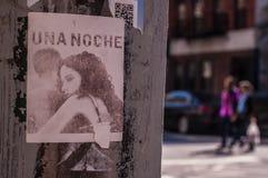 БРУКЛИН, NYC, США, 1-ое октября 2013: Искусство улицы в Бруклине Drawi Стоковая Фотография