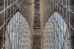 Бруклинский мост - абстрактные детали - Нью-Йорк стоковое фото
