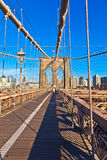 Бруклинский мост в Нью-Йорке Стоковое Изображение